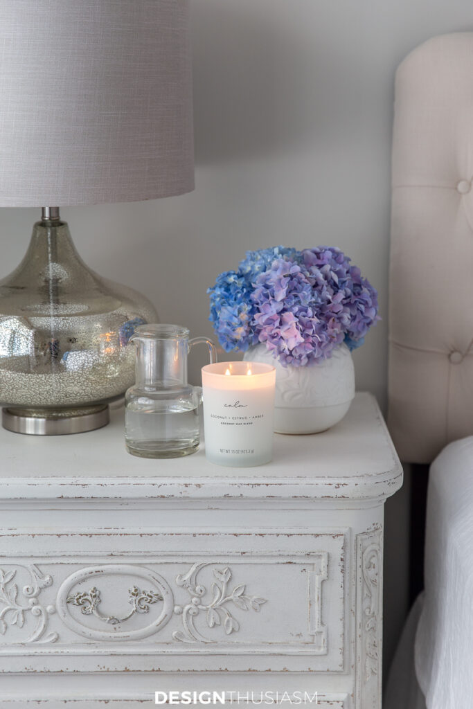Welcoming overnight guests night stand