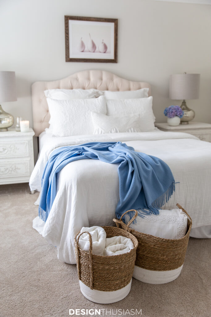 Welcoming overnight guests guest bedding