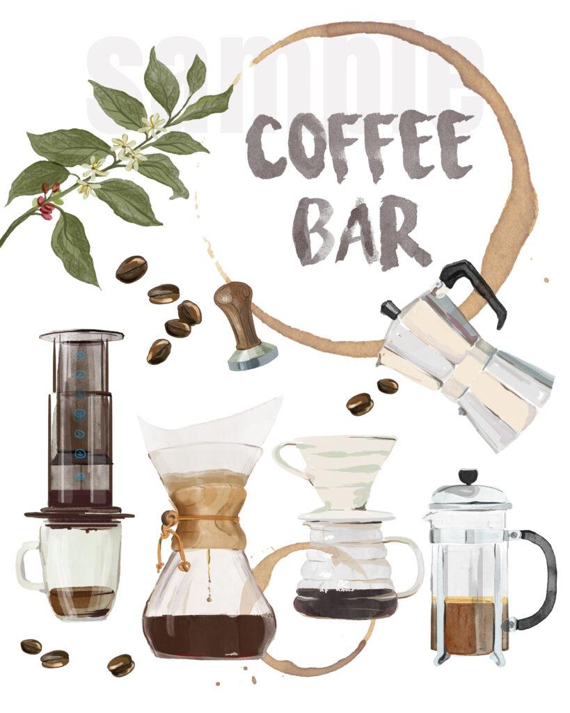 kitchen coffee station printable art