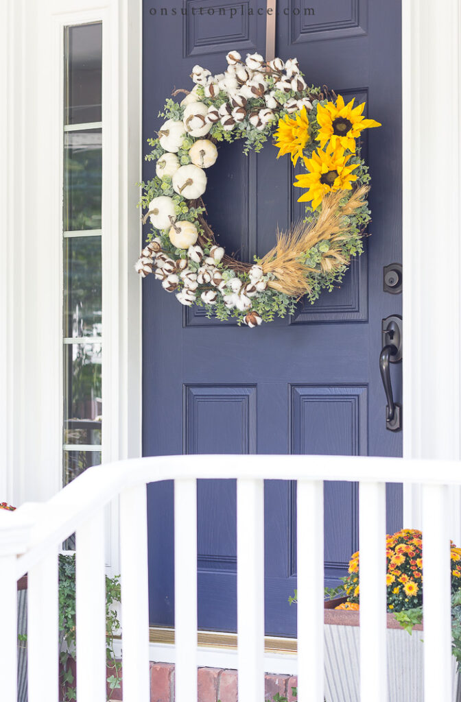 DIY Fall Wreath Idea from On Sutton Place