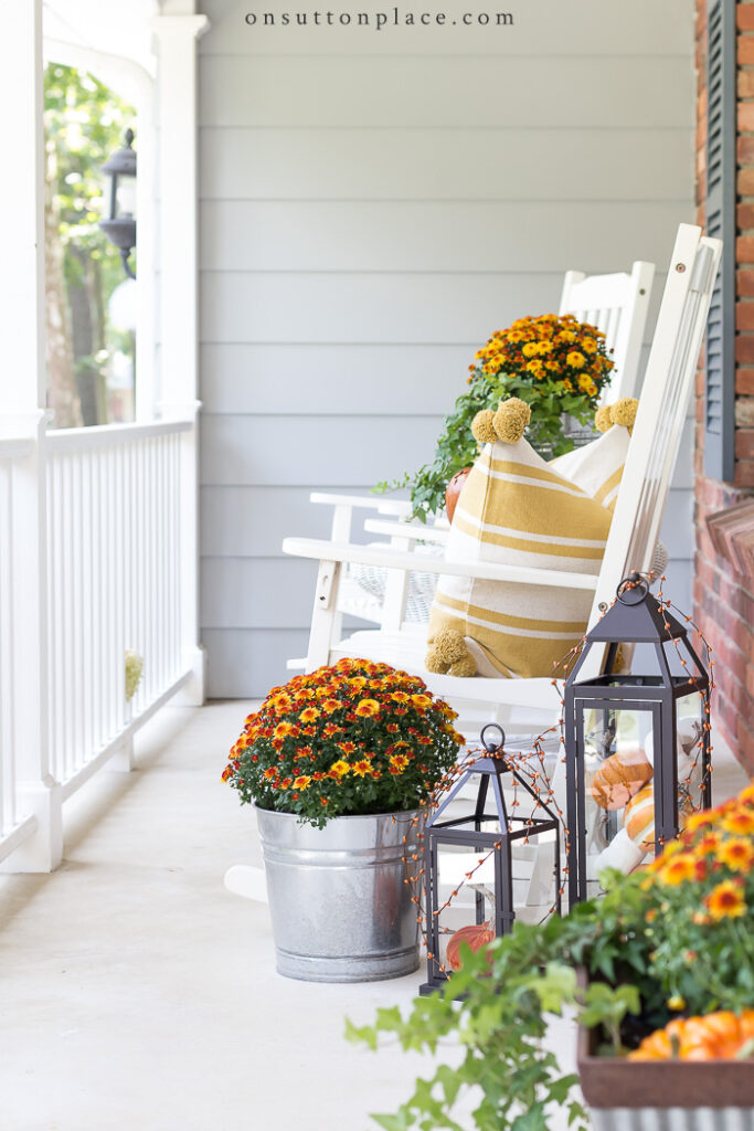 Easy Fall Porch Decor Ideas from On Sutton Place