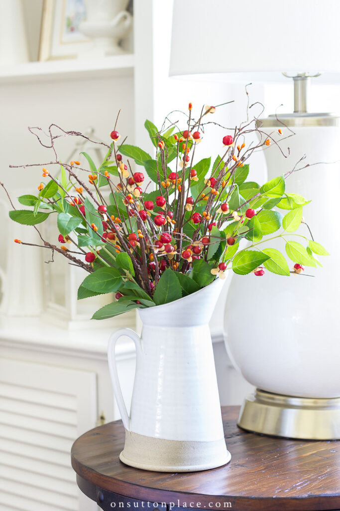 Fall Arrangement with bittersweet from On Sutton Place