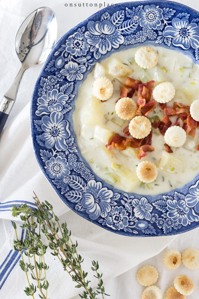 Homemade Potato Soup Recipe from On Sutton Place