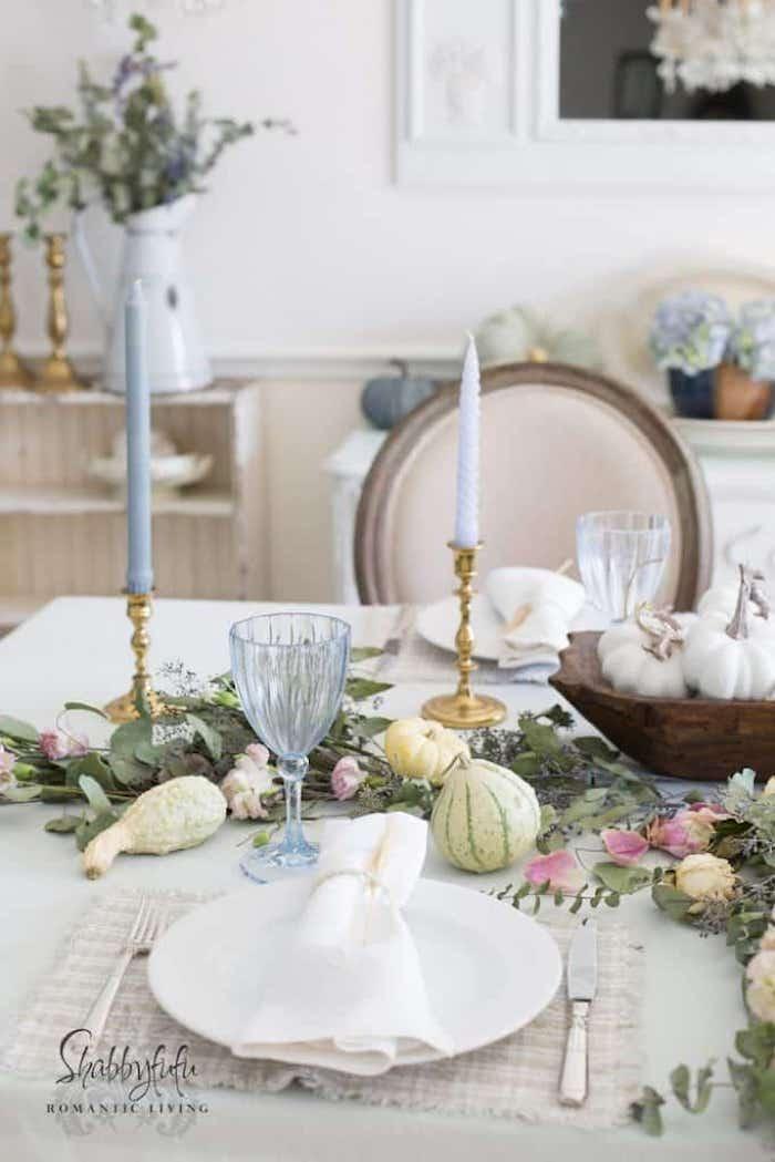 Shabbyfufu - Pastel Tablescape For Fall