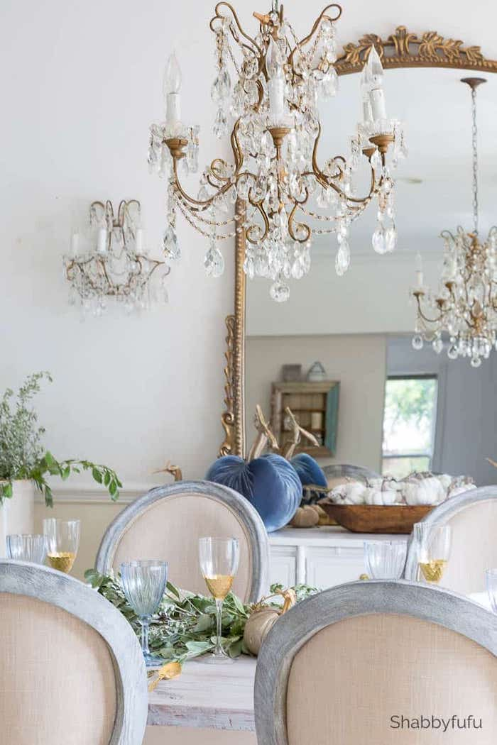 Shabbyfufu - Rustic French Country Fall Table Setting Ideas