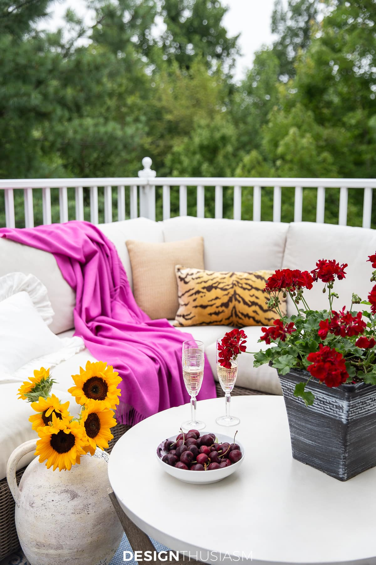 Organize and Update: End of Summer Backyard Patio Refresh