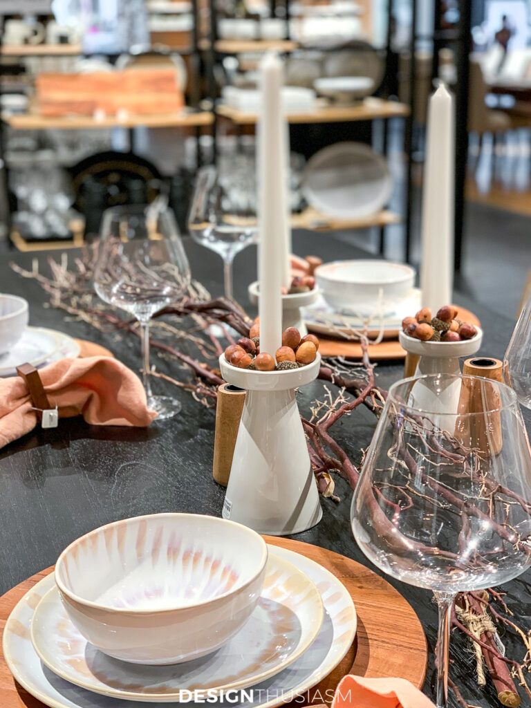 fall decor trends tabletop