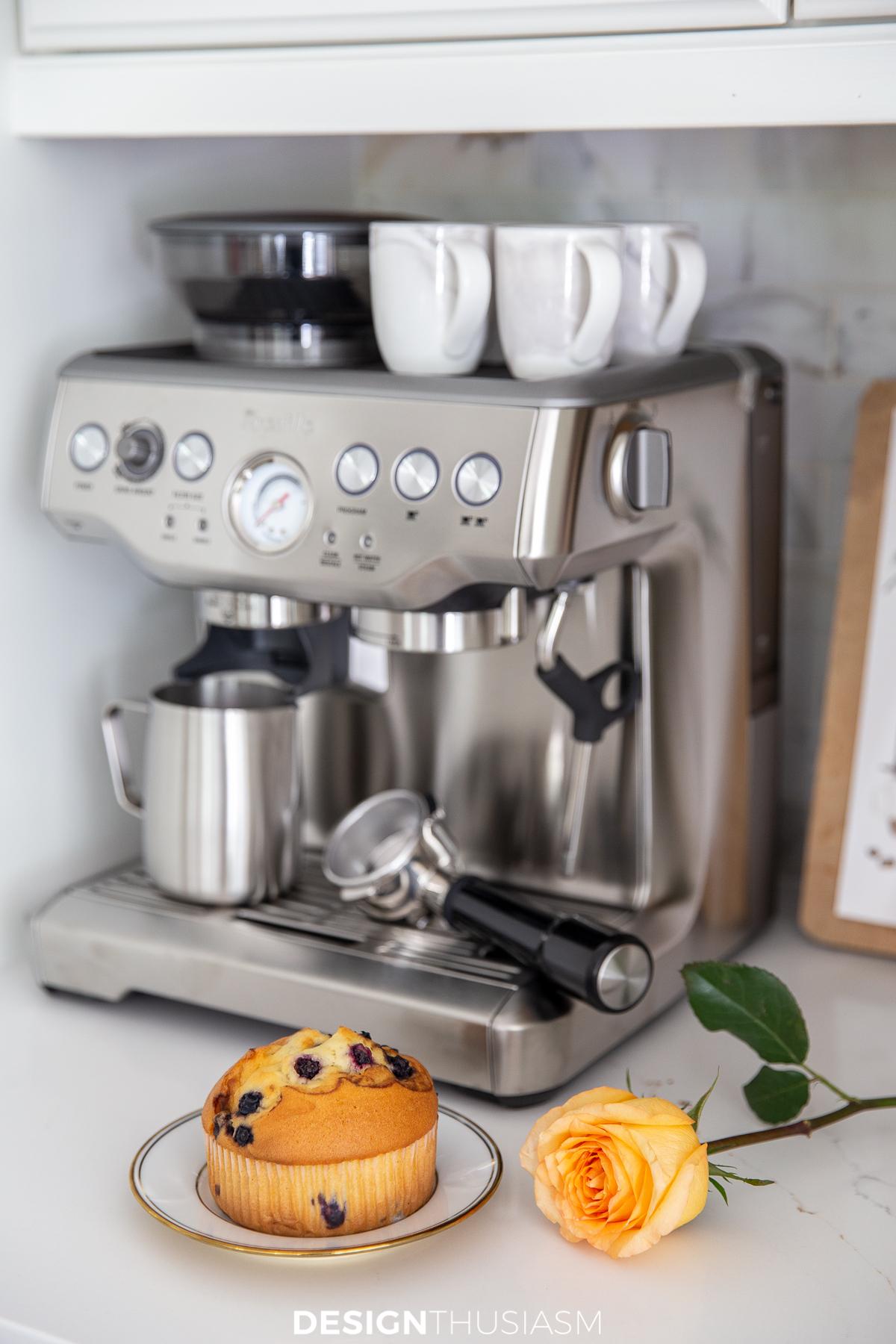 kitchen coffee station espresso machine