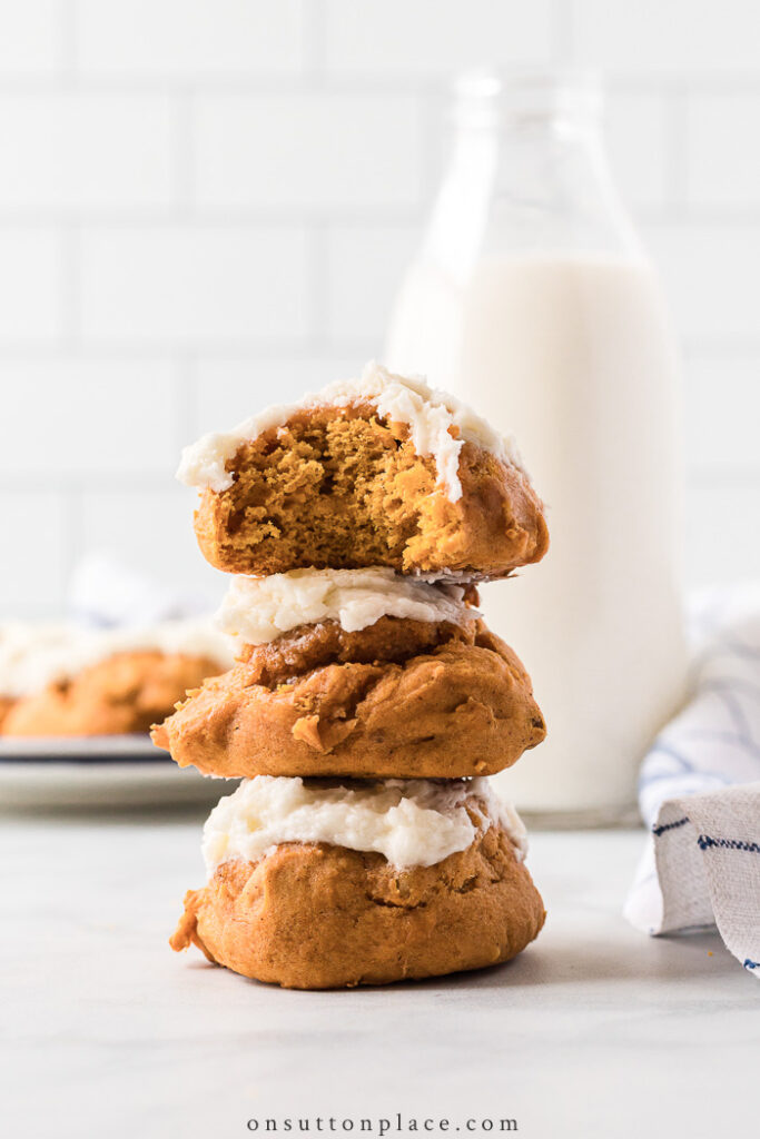 Iced Pumpkin Cookies from On Sutton Place
